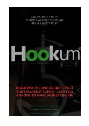 Hookum - Discover the one Secret Twist that makes it Super - Easy for anyone to make money online