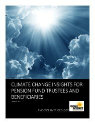 CLIMATE CHANGE INSIGHTS FOR PENSION FUND TRUSTEES AND BENEFICIARIES