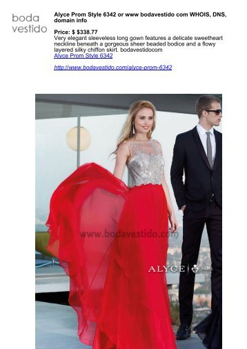 Alyce Prom Style 6342 or www bodavestido com WHOIS, DNS, domain info