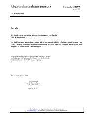 Bericht - Abgeordnetenhaus von Berlin