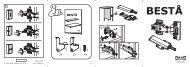 Ikea BESTÅ combinaison rangt TV/vitrines - S39196685 - Plan(s) de montage