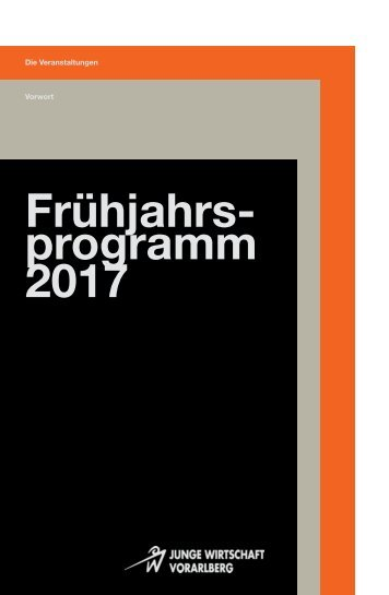 Frühjahrsprogramm 2017