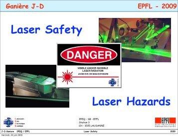 Laser Safety Laser Hazards - EPFL