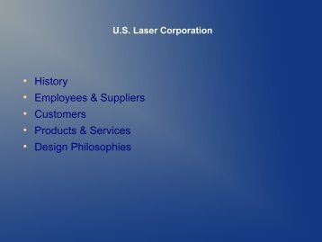 U.S. Laser Corporation
