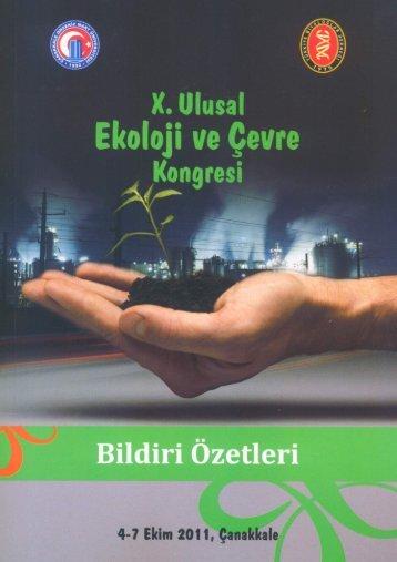 Page 1 Page 2 X.  ULUSAL EKOLOJİ VE ÇEVRE KONGRESİ 04-07 ...