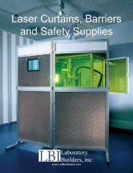 Laser Curtains, Barriers and Safety Supplies - Laboratory Builders, Inc.