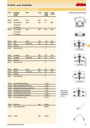 Profile und Zubehör Aluminium-Profile und ... - Steba Kunststoffe AG