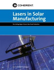 Lasers in Solar Manufacturing - Coherent