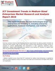 ICT Investment Trends in Medium-Sized Enterprises Market Forecasts Report 2016
