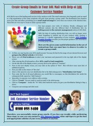 Create Group Emails in Your AOL Mail with Help of AOL Customer Service Number