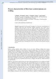 Process characteristics of fibre-laser-assisted plasma arc welding