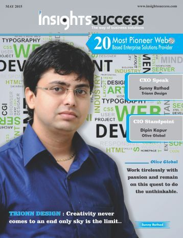 Insight Success 20 Most Pioneer Web Based Entrepreneur Solution Provider Companies