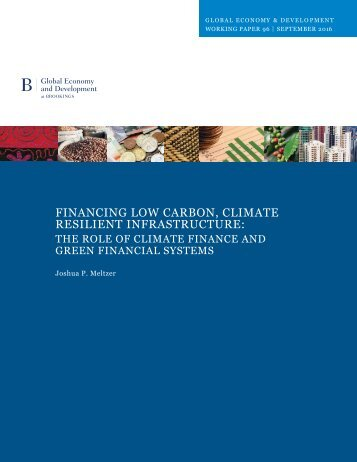 Financing Low Carbon Climate Resilient Infrastructure