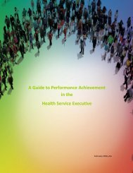 A Guide to Performance Achievement in the Health Service Executive