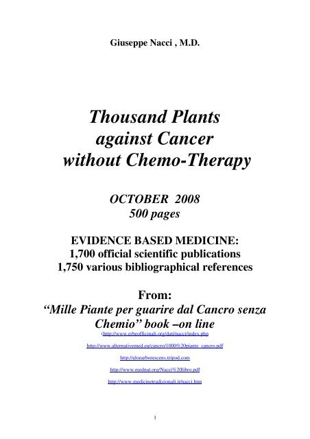 Thousand Plants against Cancer without Chemo     - MEDNAT org
