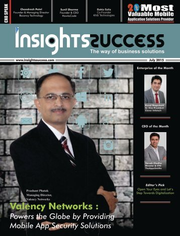 Insights success  20 Most Valuable Mobile solution provider