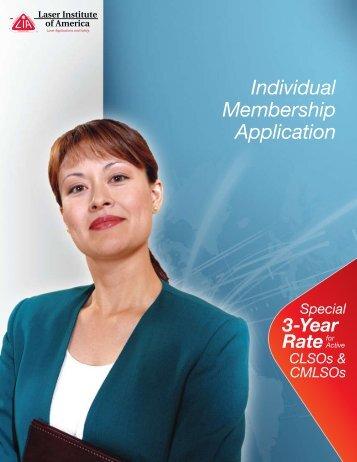 Individual Membership Application Special CLSOs & CMLSOs 3 ...