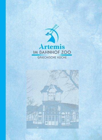 Artemis Speisekarte