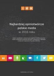 polskie media w 2016 roku