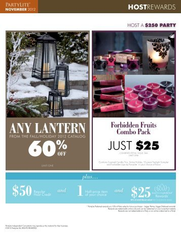 plus… ANY LANTERN - PartyLite