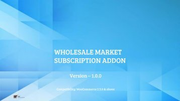 WooCommerce Wholesale Market Subscription Addon- CedCommerce