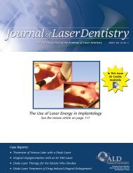 The Use of Laser Energy in Implantology - Academy of Laser Dentistry