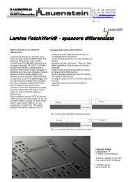Lamina PatchWork® - spessore differenziato spessore differenziato ...