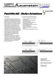 PatchWork® - Stufen-Schablone Schablone