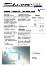 Pochoirs CMS / SMD coupés au laser
