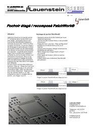 Pochoir étagé / recomposé / recomposé / recomposé PatchWork®