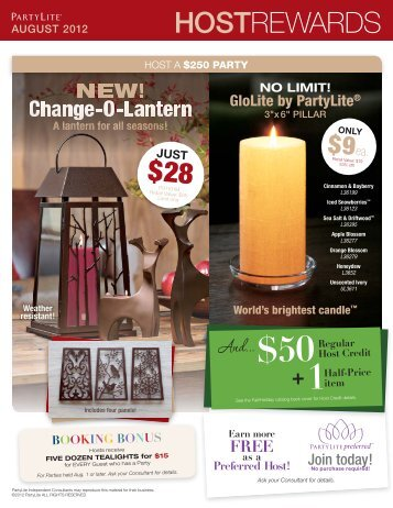 Download Host Rewards - PartyLite