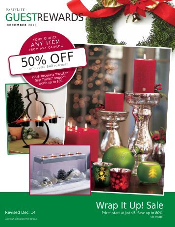 50% OFF - PartyLite