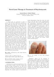 Novel Laser Therapy in Treatment of Onychomycosis - Laser and ...