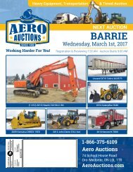 Aero Auctions-March 1, 2017-Barrie, ON