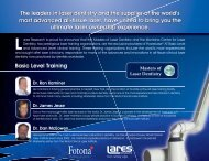 The leaders in laser dentistry and the supplier - Fotona