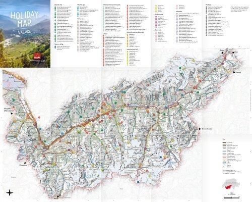 Valais - Holiday Map