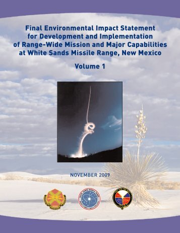 Final Environmental Impact Statement for Development and ...