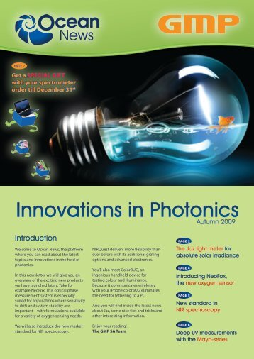 Innovations in Photonics - Ocean Optics