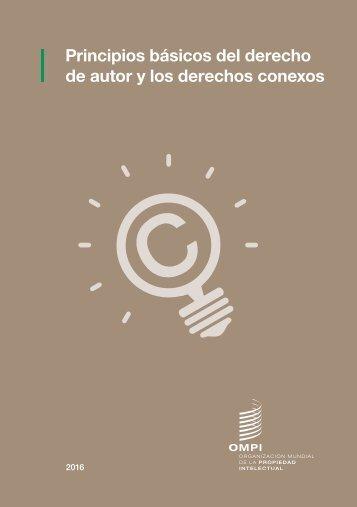 Principios básicos del derecho de autor y los derechos conexos