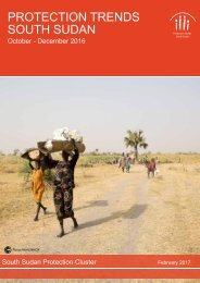 PROTECTION TRENDS SOUTH SUDAN
