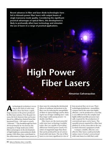 High Power Fiber Lasers
