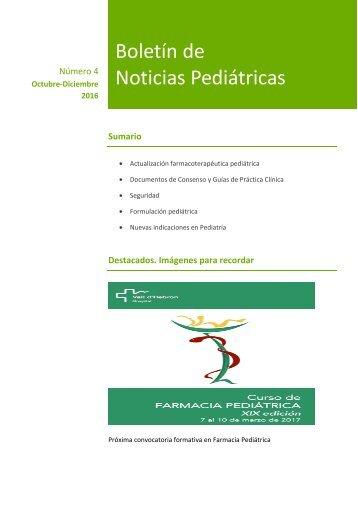 Boletín de Noticias Pediátricas
