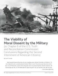 The Viability of Moral Dissent by the Military