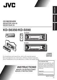 KD-S6350/KD-S590 - JVC