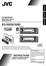 KD-S6250/S580 - JVC