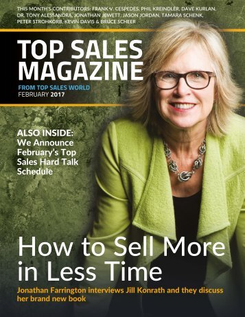 T P SALES MAGAZINE How to Sell More in Less Time