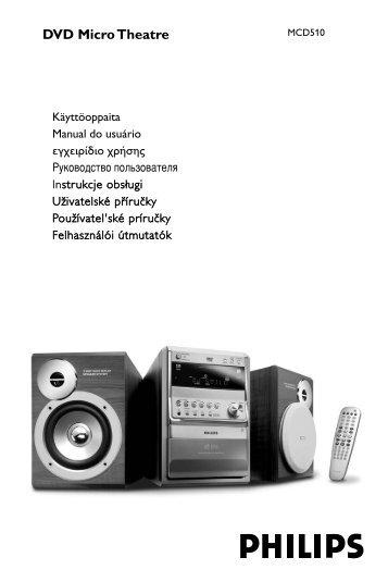 Philips Micro-chaîne DVD - Mode d'emploi - HUN