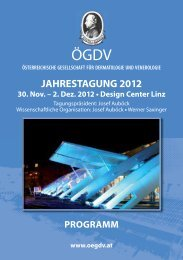 PROGRAMM JAHRESTAGUNG 2012 30. Nov. – 2. Dez ... - ÖGDV