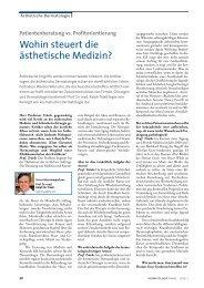 Patientenberatung vs. Profitorientierung - Dermatologische Praxis ...