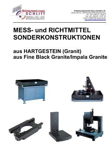 Richtmittel aus Hartgestein (Granit) - Präzisionstechnik Klaus Schlitt